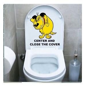Muttley Adesivo Copriwater Sedile Tavoletta Wc Toilet Seat Sticker 1 Pz. Paquet éLéGant Et Robuste
