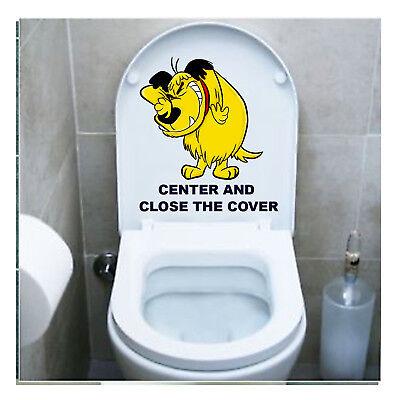 Muttley Adesivo Copriwater Sedile Tavoletta Wc Toilet Seat Sticker 1 Pz. Grondstoffen Zijn Zonder Beperking Beschikbaar