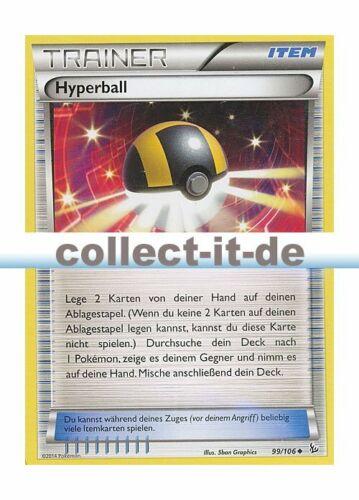 Pokemon XY Flammenmeer 99//106  Hyperball Deutsch