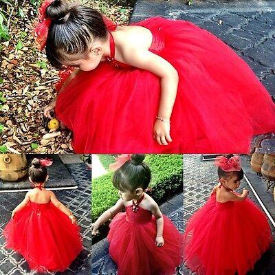 Baby Girls Dress Tutu Kids Children Wedding Clothes Skirt Party Princess Dress