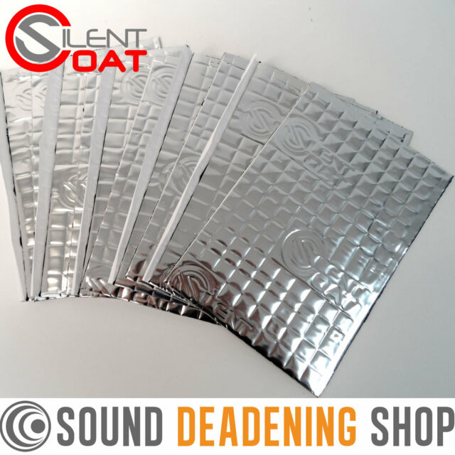 Silent Coat 2mm 10 Sheets Car Deadening Vibration Sound Proofing Damping Mat