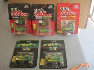 Five 1996 Die-cast 1:64 JOHN DEERE Nascar Race Cars in Packs, Driver Chad Little