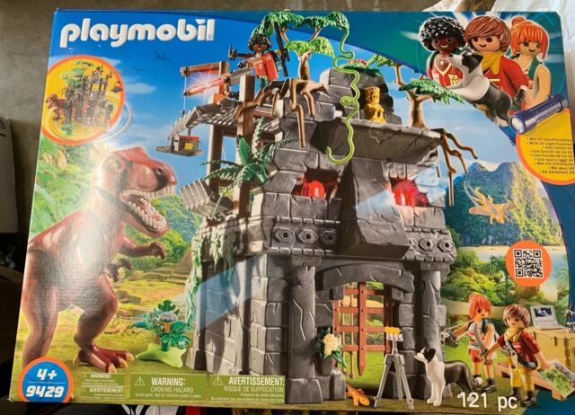 Playmobil 9429 The Explorer's Hidden Temple With T-Rex NEW