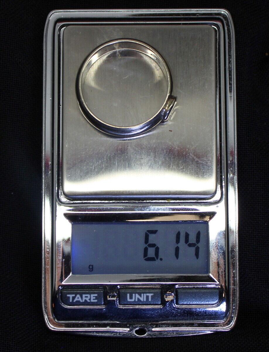 Nice 14K Gold Unique .13 Ct Solitaire Diamond Ban… - image 5