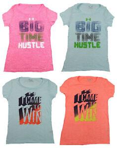 Women-039-s-Under-Armour-Tee-Shirt-Loose-Heat-Gear-Slub-Short-Sleeve-T-Shirt-NEW