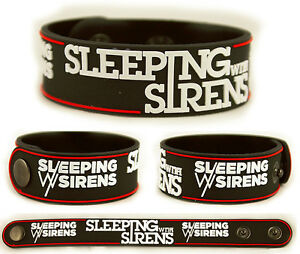 SLEEPING-WITH-SIRENS-Rubber-Bracelet-Wristband-With-Ears-to-See-and-Eyes-to-Hear