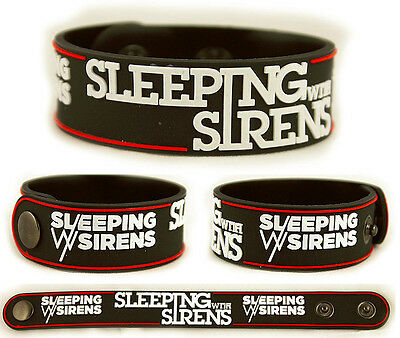 SLEEPING WITH SIRENS Rubber Bracelet Wristband With Ears to See and Eyes to Hear