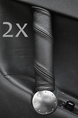 BLACK STITCH 2X UPPER TOP DOOR CAPPING LEATHER COVERS FITS AUDI TT MK1 98-06