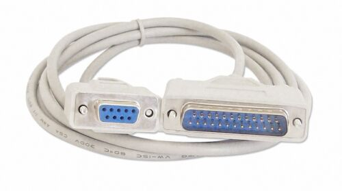 50Ft DB9 Female to DB25 Male AT Serial Modem Cable with Thumbscrews 6Ft