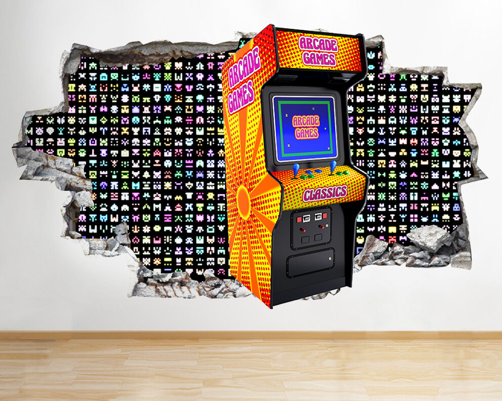 R283 ARCADE GAME DIverdeENTE COOL retro rossoti decalcomania della parete 3D art adesivi in vinile SALA