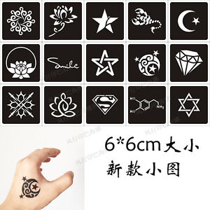Pro henna tattoo stencils airbrush stencil glitter for Henna temporary tattoo stencils