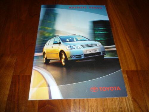 Toyota Avensis Verso Prospekt 08/2001 Auto & Motorrad: Teile ...