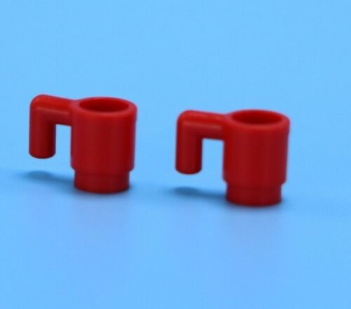 Lego 2 red coffee cups mugs glasses dinner ware  Minifigure friends city town