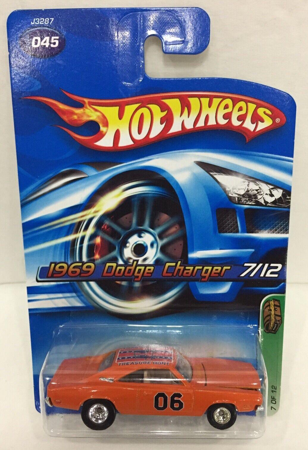 Hot Wheels Treasure T HUNT 1969 Dodge Charger General Lee Dukes Nouveau 2006 SUPER