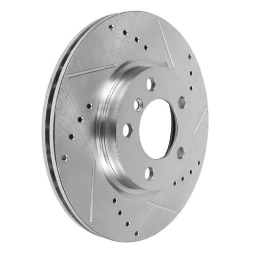 Front Drilled /& Slotted Brake Rotors For Mercedes Benz ML430 ML500 ML55 AMG