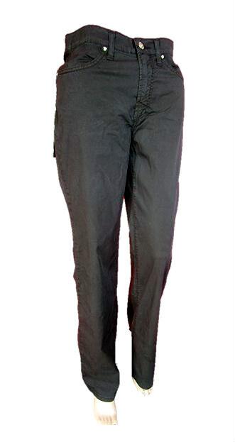 Versace Mujer  New Vintage 90s De Lujo Diseñador Pantalones De Color Negro Sz IT28 AN45  Más asequible