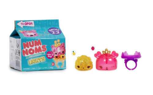LOT 4 Light-Up Ring Num Noms Lights Mystery Pack Series 2.2