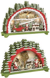 Weihnachtsdeko Fenster Holz.Details Zu Weihnachtsdeko Led Beleuchtung 20cm Weihnachtsmann Pickup Holz Nikolaus Fenster