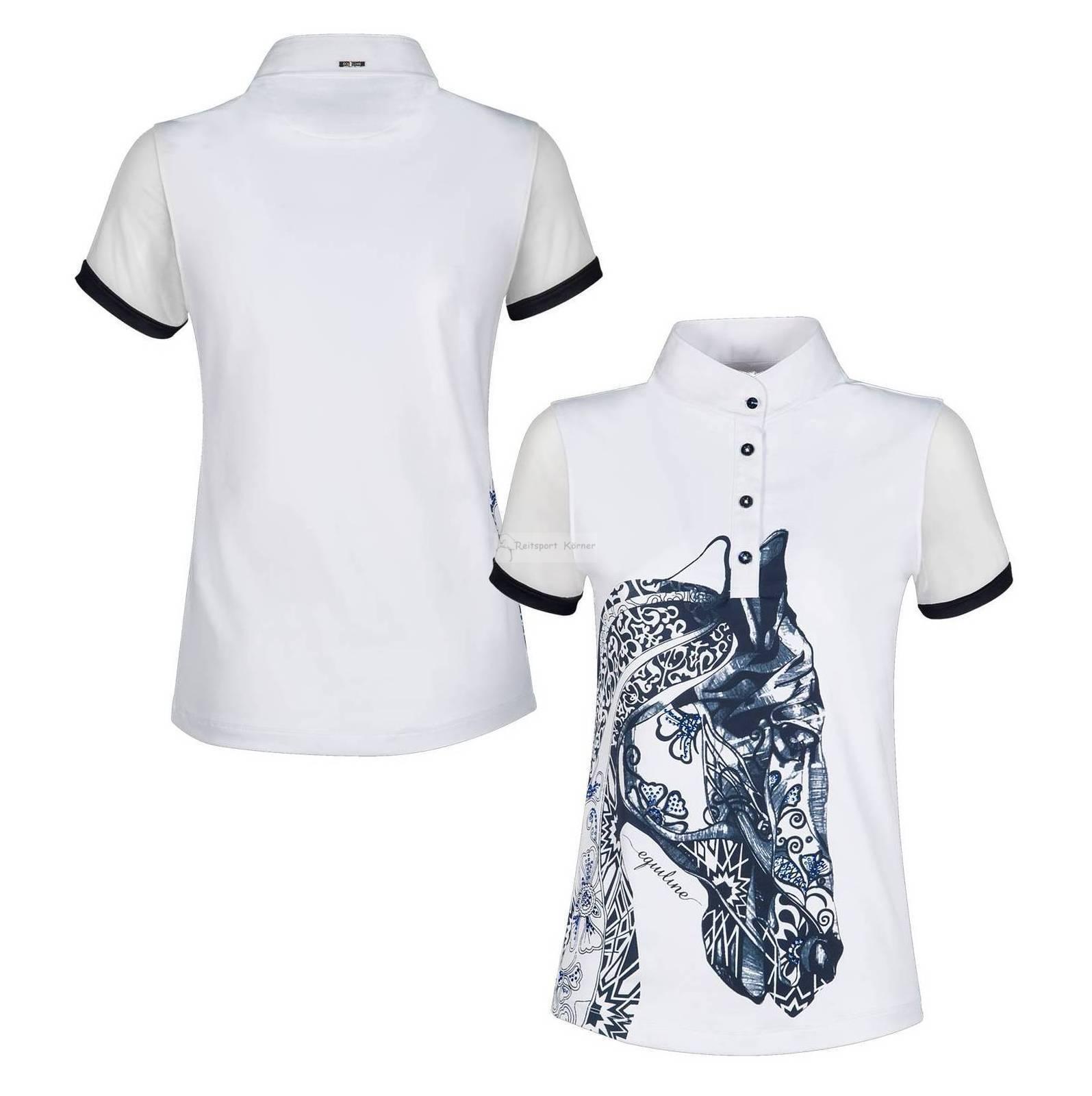 Equiline Poloshirt   AGATE   Shirt mit Pferdekopf und Strasssteinen