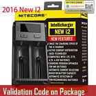 Nitecore New I2 2016 Intellicharger Battery Charger 18650 RCR123 16340 14500