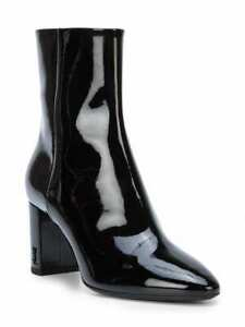 9d8d30e31f7 Image is loading Yves-Saint-Laurent-Patent-Leather-Ankle-Boots