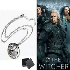 The Witcher Netflix Wolf Medallion Necklace Stainless Steel Jewellery Pendant