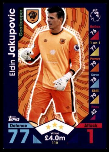 Match Attax 2016-2017 Eldin Jakupovic Hull City Base Carte No 110