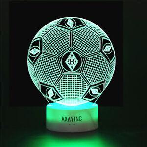3D-LED-VfL-Borussia-Moenchengladbach-Tischlampe-Nachtlicht-Nachttischlampe-7Farbe