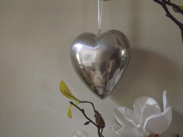 Metallo lucido Decorativa Da Appendere Cuore 15 x 4.5 x 13 cm Nozze/HOME DECOR