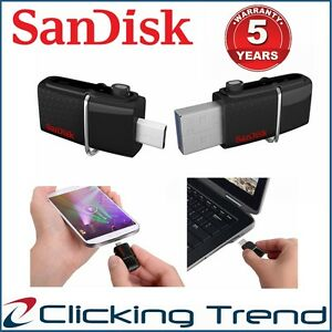 Micro USB Drive 3.0 SanDisk 32G 64G 128GB 16GB Ultra Dual USB Flash OTG Android