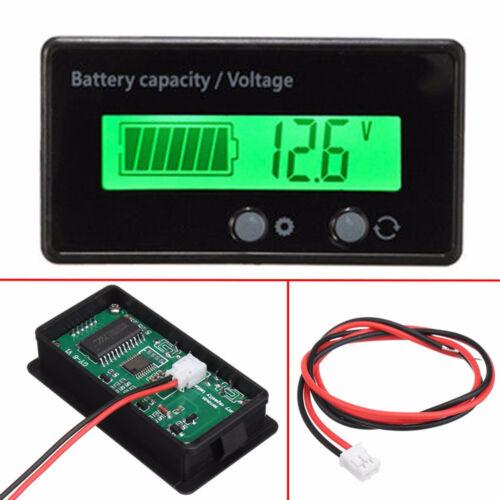 12V-48V Waterproof LCD Indicator Car Battery Capacity Tester Lead-acid Monitor