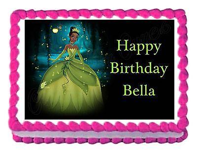 Fabulous Princess Tiana Party Decoration Edible Birthday Cake Image Cake Funny Birthday Cards Online Elaedamsfinfo