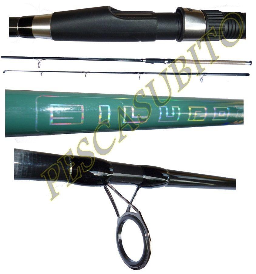 Canna da pesca siluro 2.70mt azione 100300g catfishing break line boa fondo