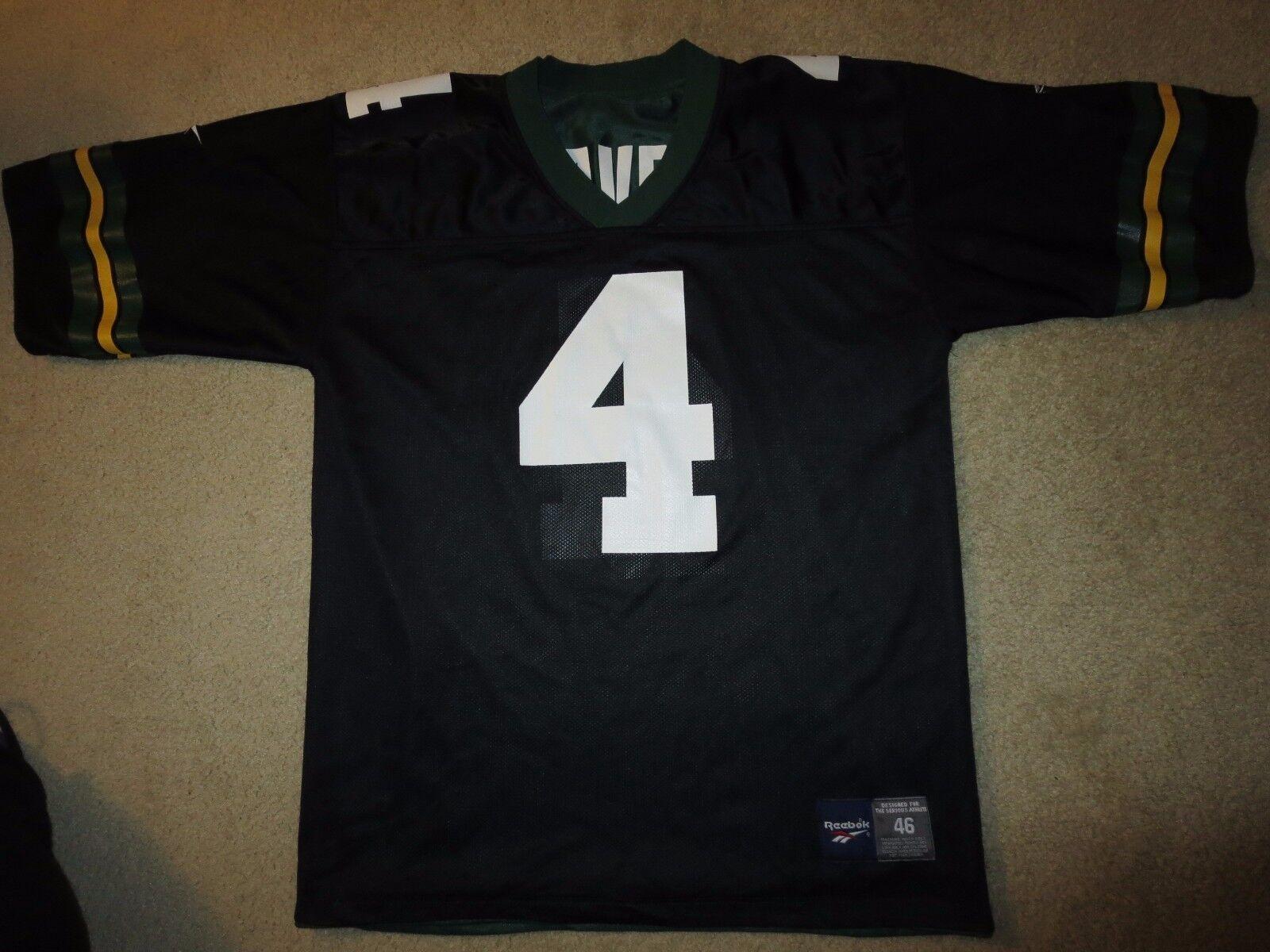 Brett Favre verde Bay Packers Negro Edición Reebok NFL Jersey M M Hombres 46