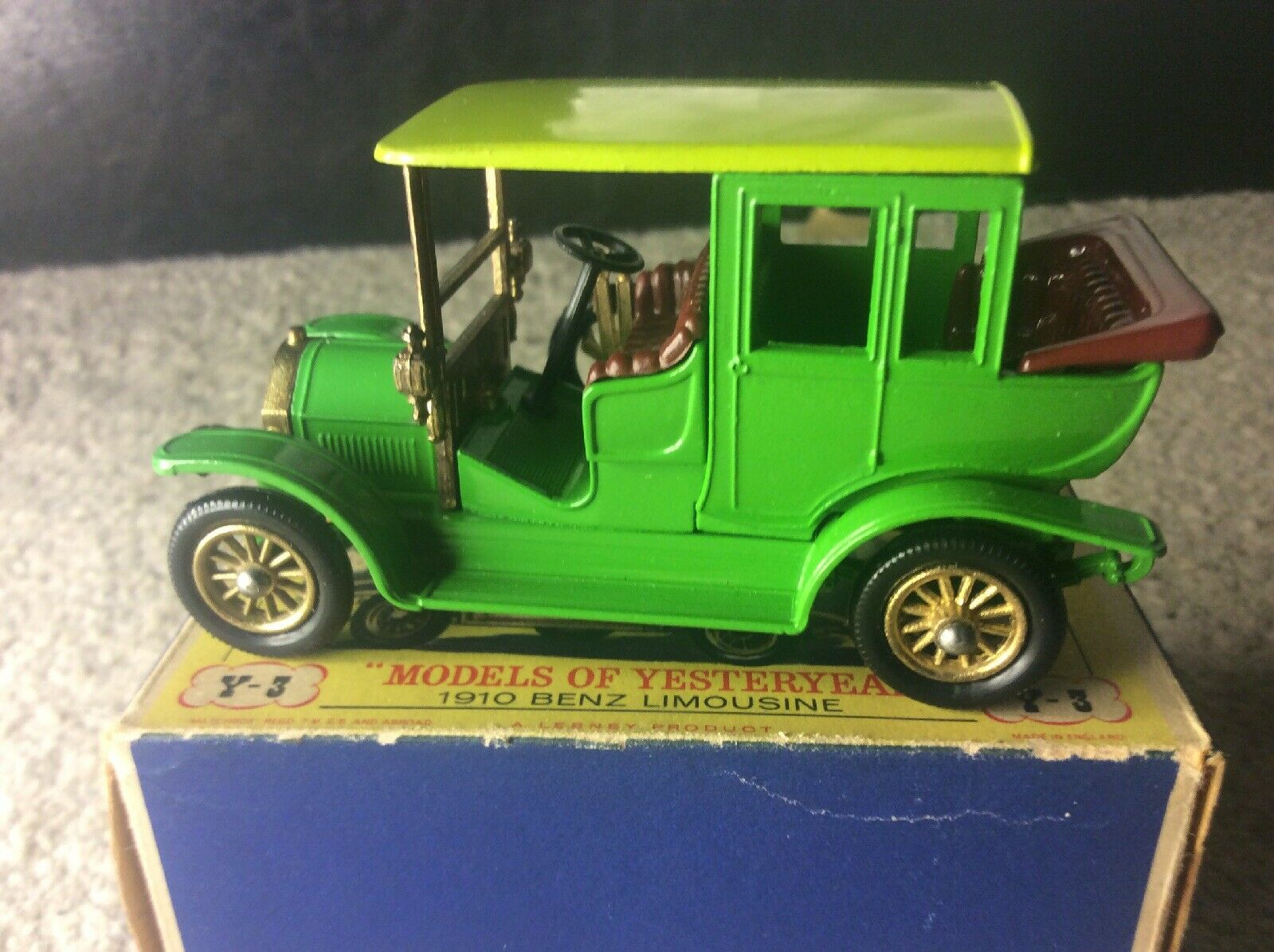 Matchbox vintage y-3 models of yesteryear 1910 benz benz benz limo 65a814