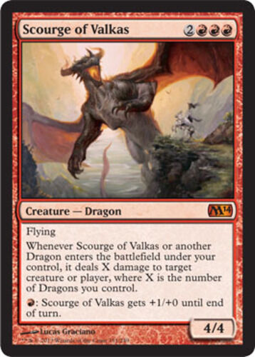 Scourge of Valkas, NM-Mint, Japanese, Magic 2014 (M14) MTG