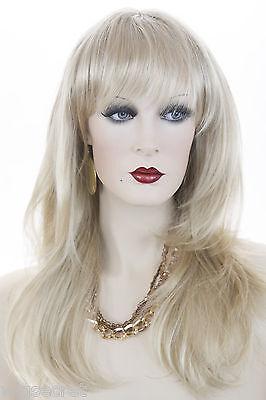 Light Golden Blonde Blonde Long Medium Skin Top Wavy Straight Wigs