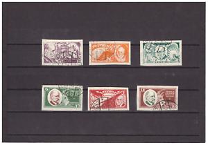 Lettland-1930-Michel-Nr-153-B-158-B-gestempelt-und-geschnitten