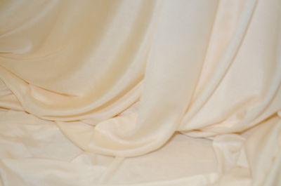 Capace Tessuto Abbigliamento Jersey Seta Avorio H 1.40 Materiale Selezionato