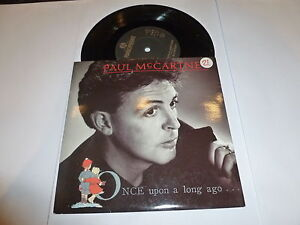 PAUL-McCARTNEY-Once-Upon-A-Long-Ago-1987-UK-solid-centre-7-034-vinyl-single