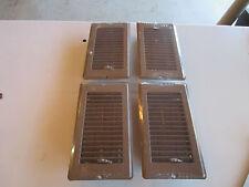 """Mobile Home RV Parts. Floor Register 4"""" x 10"""". Brown Metal Floor Vent.  Lot of 4"""