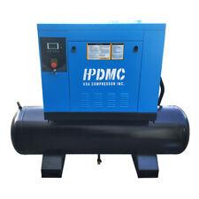 Hpdmc 10 Hp 3 Phase Rotary Screw Air Compressor With 40 Gallon Tank 230v 60 Hz