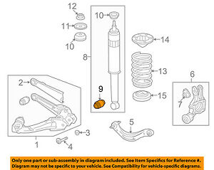 HONDA OEM 05-17 Odyssey Rear Suspension-Shock Bushing 52622SHJA01