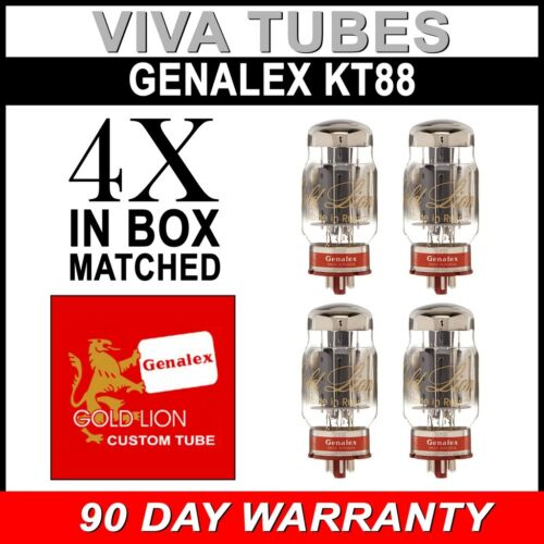Genalex Gold Lion Reissue KT88 6550 Vacuum Tubes 4 Brand New Matched Quad