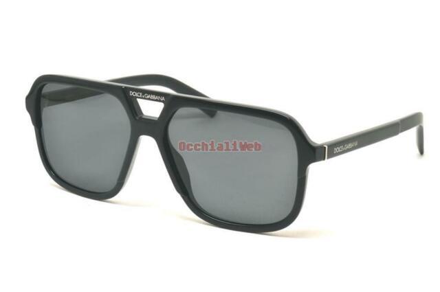 DOLCE /& GABBANA 4354 58 501//8G SOLE POLISHED BLACK SUNGLASSES SHINY BLACK