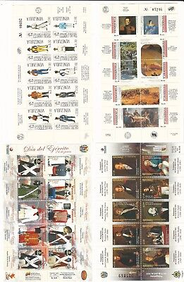 Venezuela: 1988-2011; lot of 5 different complete sheet, complete sets,...VE1060