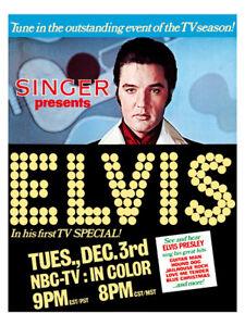 Elvis Presley - US promotional poster reprint NBC comeback special 1968