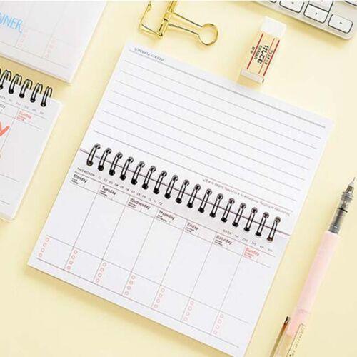 Cartoon Calendar Schedule Coil Notebook Agenda Weekly Planner Notes Hot Sale