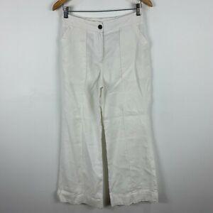 Raquel-Allegra-Linen-Pants-Womens-1-Au-8-10-White-Wide-Leg-Pockets