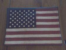 Tin and Leather American Flag Patriotic Decorative Item